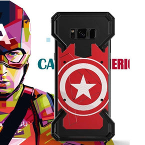 Galaxy S8 Plus R-Just Captain America Armor Metal Ultra High Protection Back Case