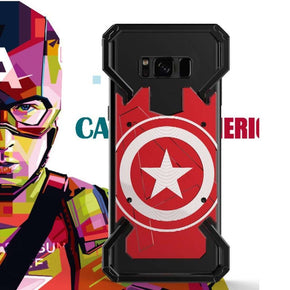 Galaxy S8 R-Just Captain America Armor Metal Ultra High Protection Back Case