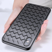 iPhone XS Max Ultra Protection Henks Thin Soft Grid Weaving Case