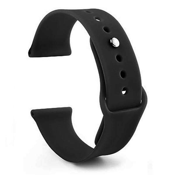 Apple Watch Band Silicone Sport Black Color 42mm (Watch Not Included)