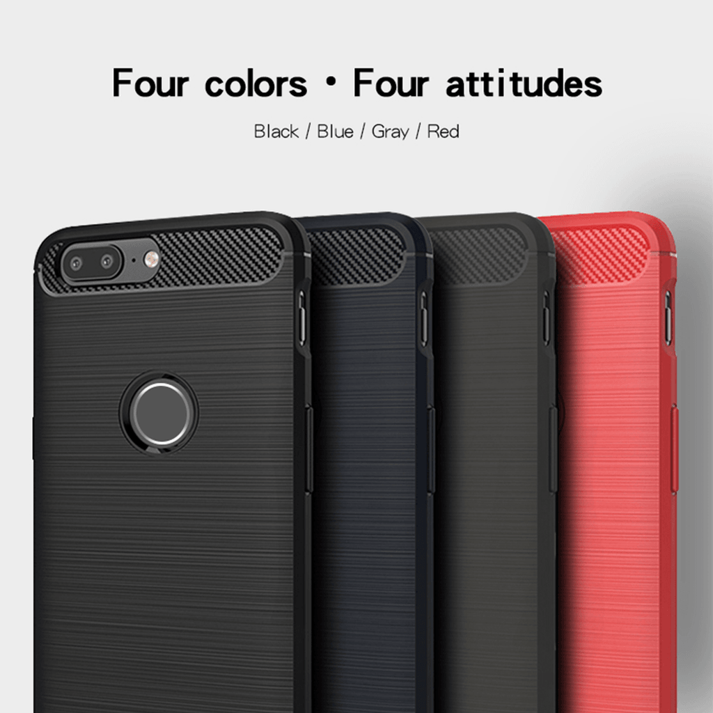 OnePlus 5T 360 Brushed Anti knock Silicon TPU Back Case