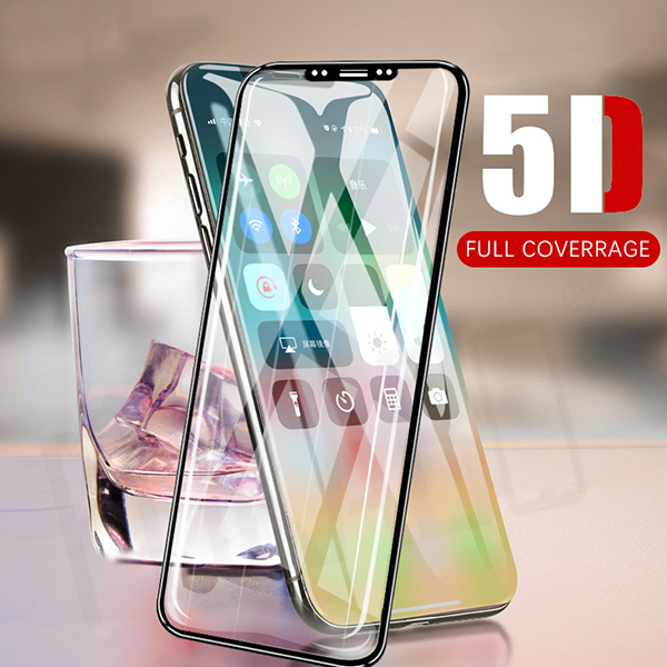 Baseus® 100% Original 5D Tempered Glass For iPhone X/10 (Edge To Edge Protection)