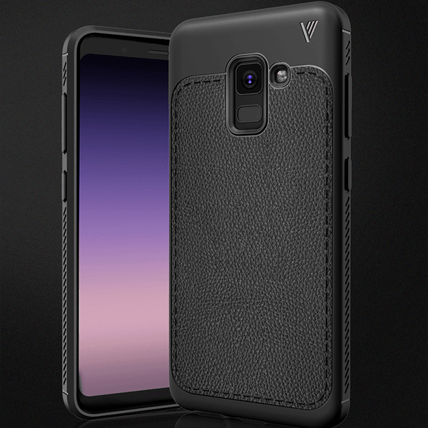 Galaxy A8 Plus Ultra Protection Leather Touch Hard Case