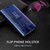 Galaxy A6 Plus Luxurious Clearview Flip Stand Case