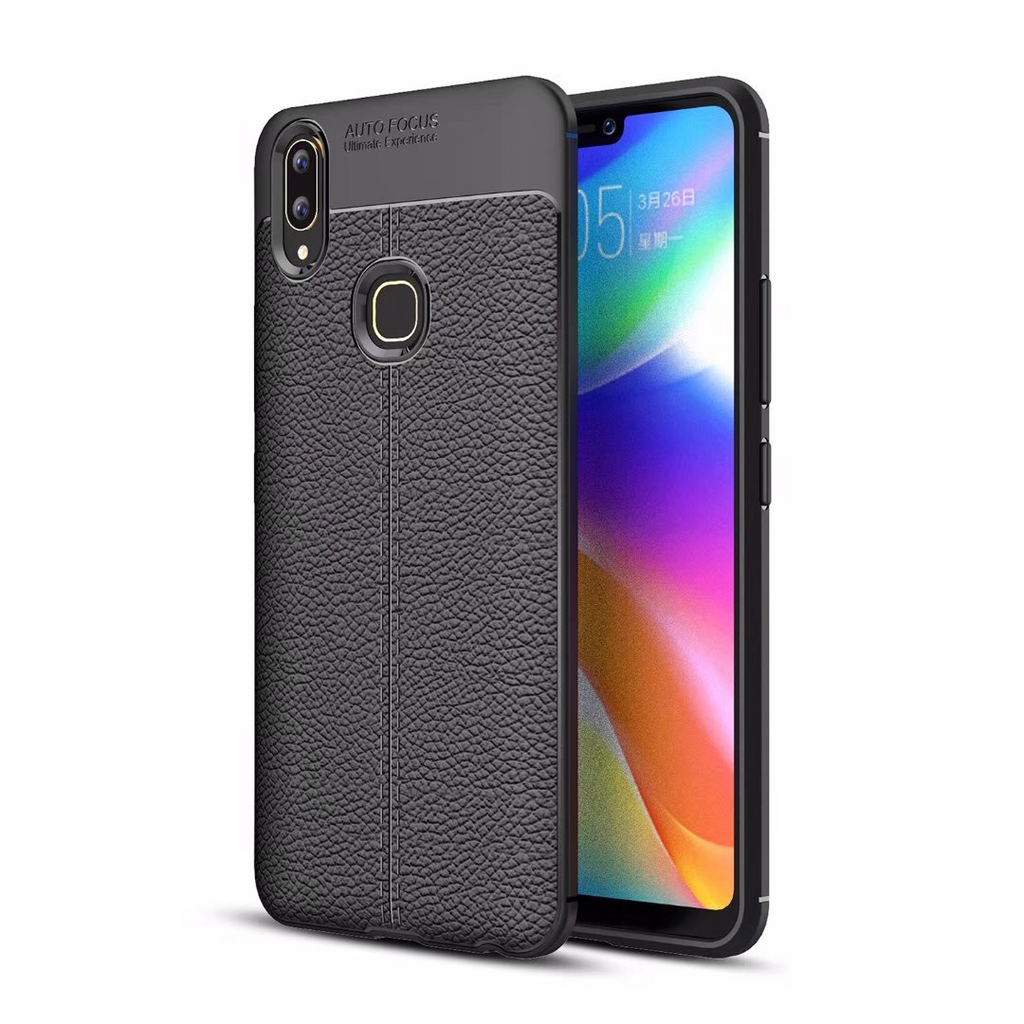 Vivo V9,100% Original Auto focus Luxury Shockproof Soft TPU Leather Case