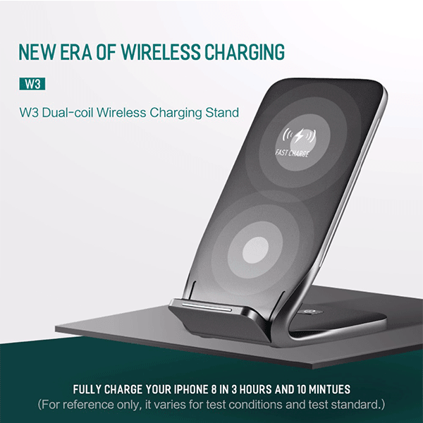 Rock® Ultra Fast Wireless Charger for iPhone, Galaxy & Qi Enabled Devices