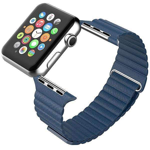 Light Blue Leather Loop Band For iWatch 42mm (Watch Not Included)