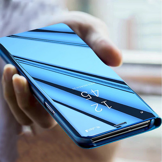 Vivo V15 Pro Ultra Protection Mirror Effect Clear View Flip Case