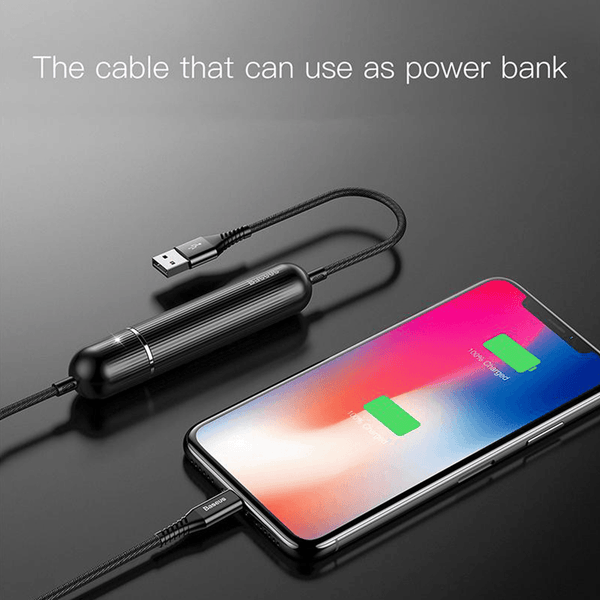Earldom® 2 in 1 Fast Charging Data Cable Cum Power Bank For Android And iOS