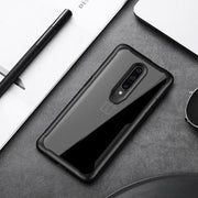 Shockproof Transparent Protection PC Acrylic Back Case for OnePlus 7 Pro