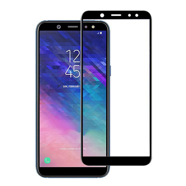 Galaxy A6 Plus Gorilla Armour 5D Curved Tempered Glass