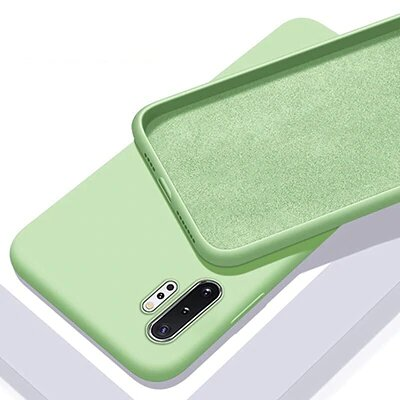 Oplore Official Soft Thin Cloth Inside Galaxy Note 10 Silicone Case - Green