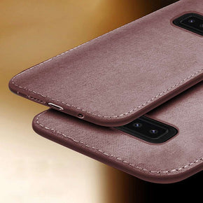 Galaxy Note 8 Cloth Canvas Hand-Stitched Cotton Texture Fabric Leather Case