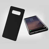 Galaxy Note 8 Ultra Protection Leather Carbon Fiber Soft TPU Shell Case