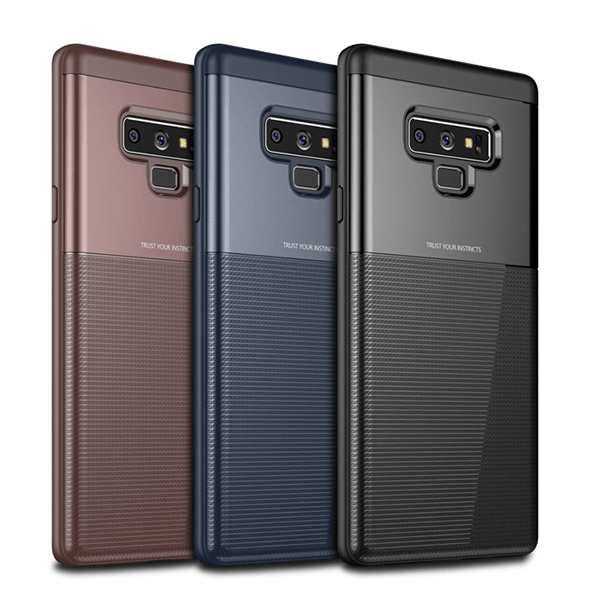 Henks® Galaxy Note 9 Luxurious Armor Shell Toraise TPU+PC Hybrid Back Case