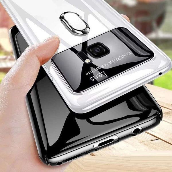 Galaxy S7 Edge Luxurious Mirror Effect Lens Ring Hard Case