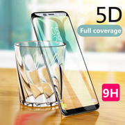 Galaxy S9 Plus 5D Curved Screen Full Protector Glue Tempered Glass