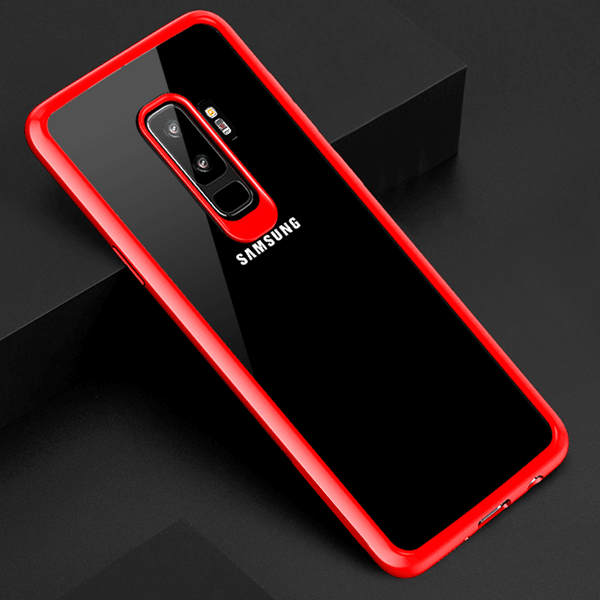 Galaxy S9 Plus Henks® Transparent Autofocus Hybrid Hard Case