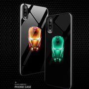 Galaxy A70 Radium Real Iron Man logo Glow Light Illuminated Case