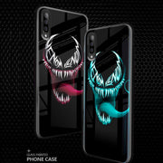 Galaxy A70 Radium Venom logo Glow Light Illuminated Case (Venom logo)
