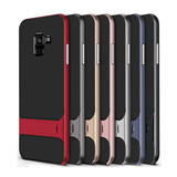 Galaxy J8 Armor Silicon Bracket With Kick Stand Back Case