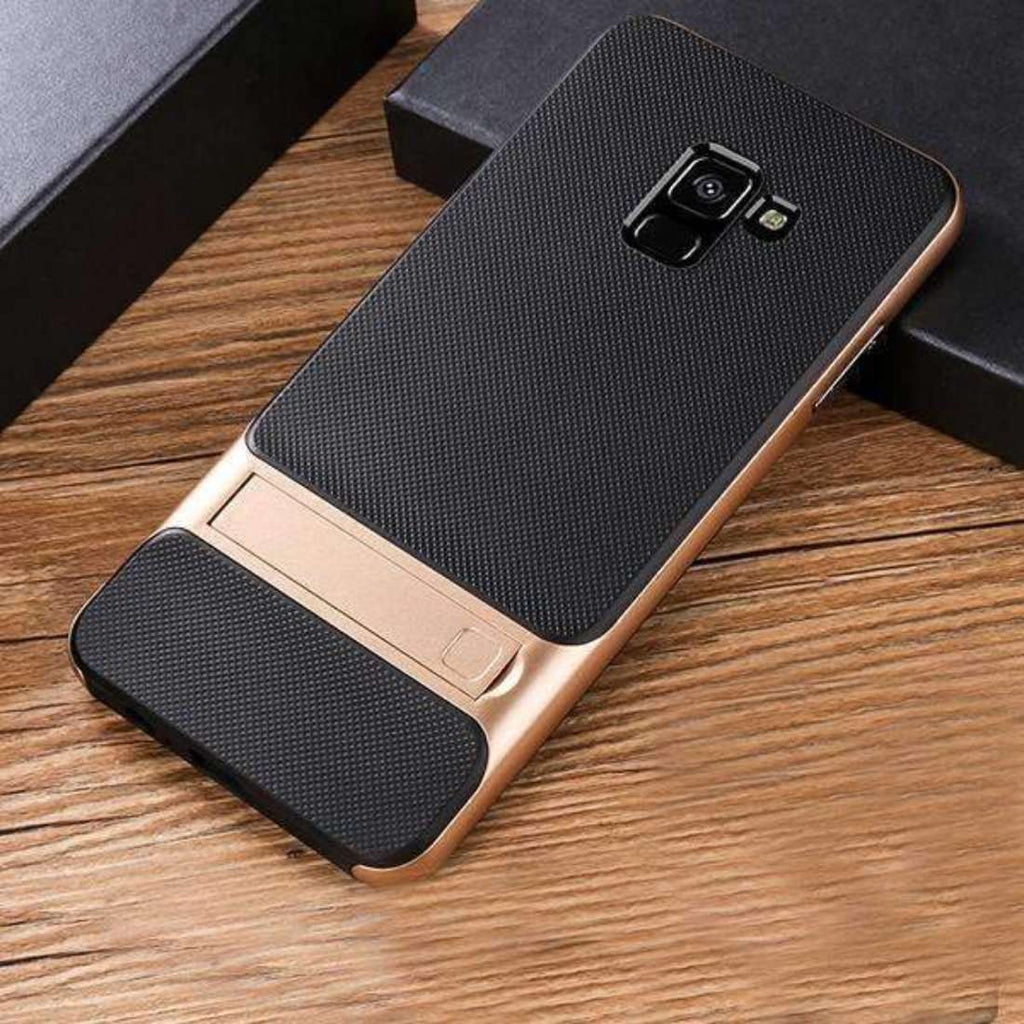 Galaxy J8 Dual Hybrid With kickStand Case