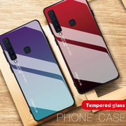 Rainbow Effect Tempered Glass AURORA Cool Cover For Galaxy A7 2018