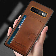 Galaxy S10 Plus Puloka® Card Slot Holder Retro PU Leather Case