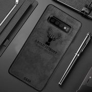 Galaxy S10 Plus Deer Cloth Canvas Texture Fabric Leather Case