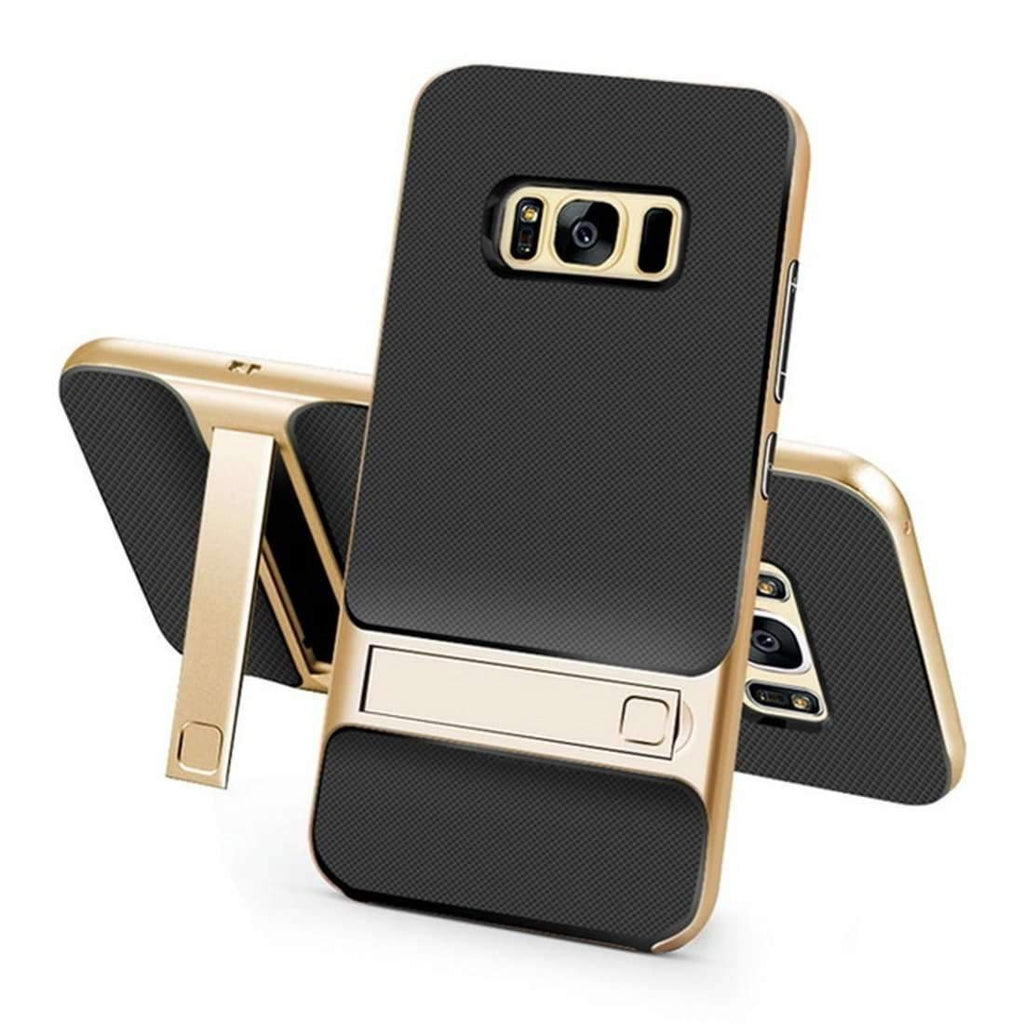 ROCK® Galaxy S8 /S8 Plus 360° Full Protection PC + Silicon Hybird Support Stand Case