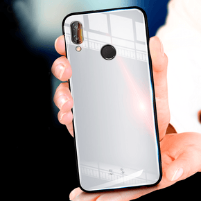 Huawei P20 Lite Tempered Glass Bumper Protective Hard Case