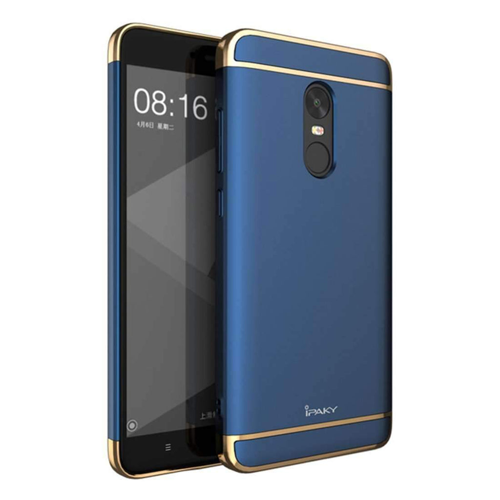 Redmi Note 4, 3in1 Ultra Protection Anti knock Electroplated Back Case