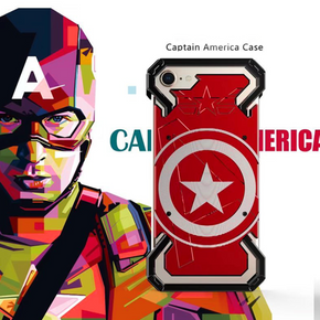 iPhone 6/6s R-Just® Captain America Metal Frame Case