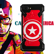 iPhone 8 Plus R-Just® Captain America Aluminum Metal Frame Case