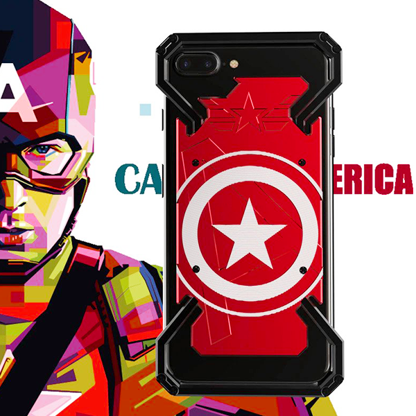 iPhone 8 R-Just® Captain America Aluminum Metal Frame Case
