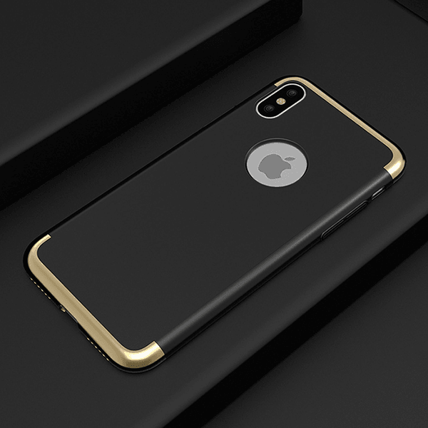 iPhone X 3in1 Luxurious Electroplated Hard Back Case
