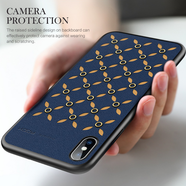 iPhone XS Max Rock® Shockproof Ultra Thin Fabric Pattern Case