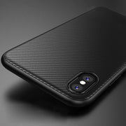 iPhone XS Max Silicone Design Olixar Carbon Fibre Case
