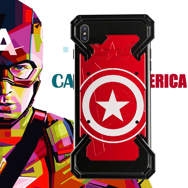 iPhone X R-Just® Captain America Series Shockproof Aluminium Case