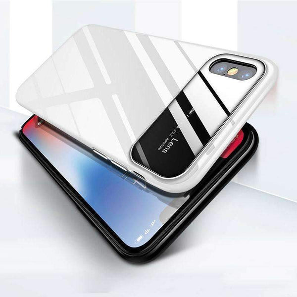 iPhone XS Max Smooth Thin Glossy Mirror PC Effect Case (OCM652)