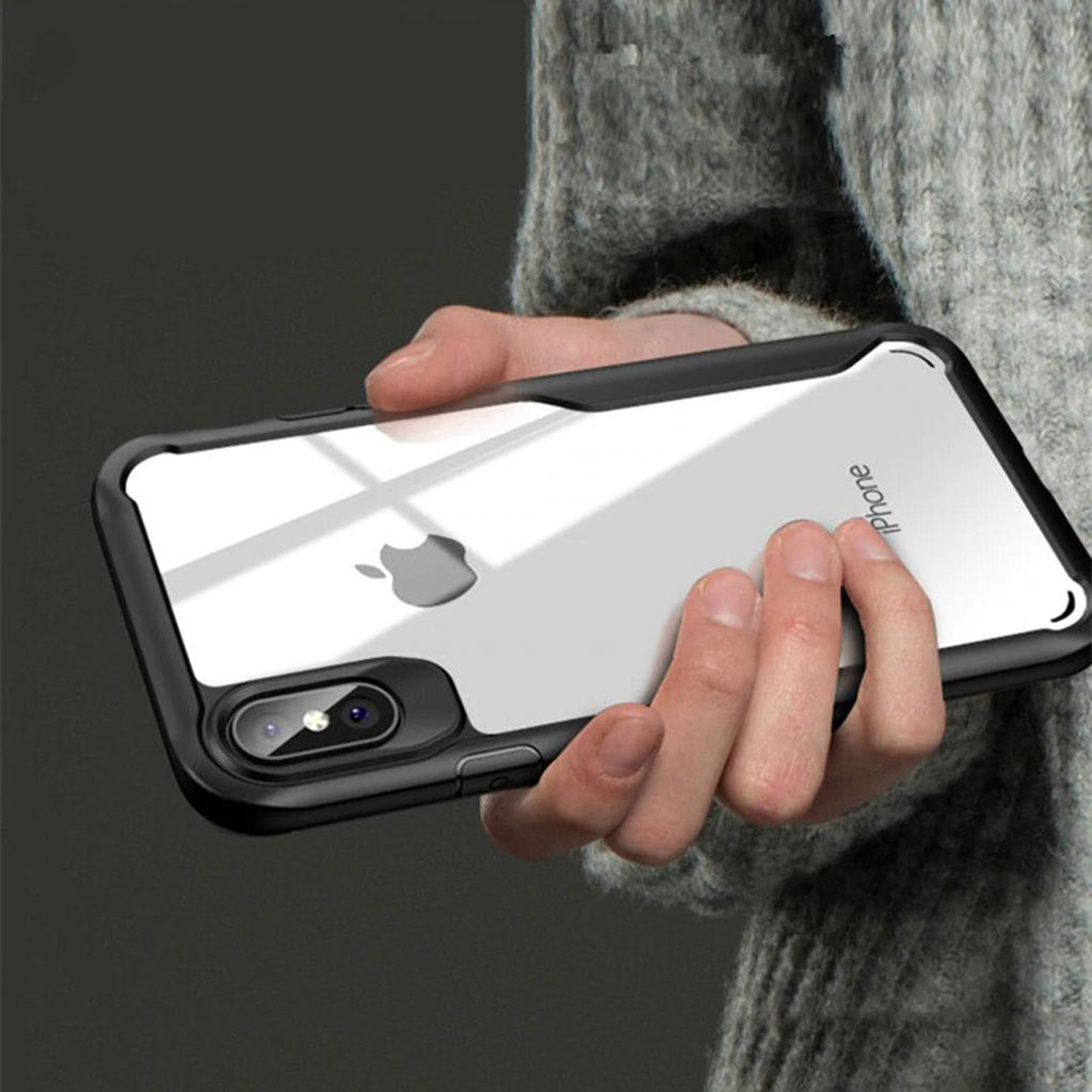 iPhone 8 Plus Luxury silicone acrylic Eagle transparent case
