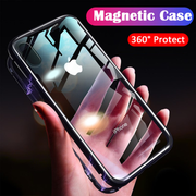 iPhone X Electronic Auto-Fit Magnetic Wireless Edition Aluminium Ultra-Thin CLUB Series Back Cover