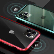 Electronic Auto-Fit Magnetic Aluminium Glass Case for iPhone 11 Pro Max