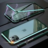 Electronic Auto-Fit Magnetic Aluminium Glass Case for iPhone 11 Pro