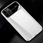 iPhone 11 Pro Max Smooth Thin Glossy Mirror PC Effect Lens Case (White)