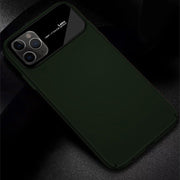 iPhone 11 Pro Max Smooth Thin Glossy Mirror PC Effect Lens Case (Green)