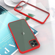 iPhone 11 Pro Max Luxury Shockproof Semi Transparent Matte Finish Case (Red)