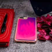 iPhone 8 Plus Neon Sand Glow In The Dark Liquid Glitter Back Case