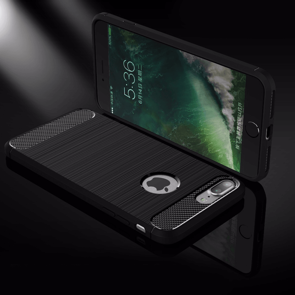 iPhone 7 Plus Rugged Armor 100 % Original Ultra High Protection Carbon Fibre Brushed TPU Case