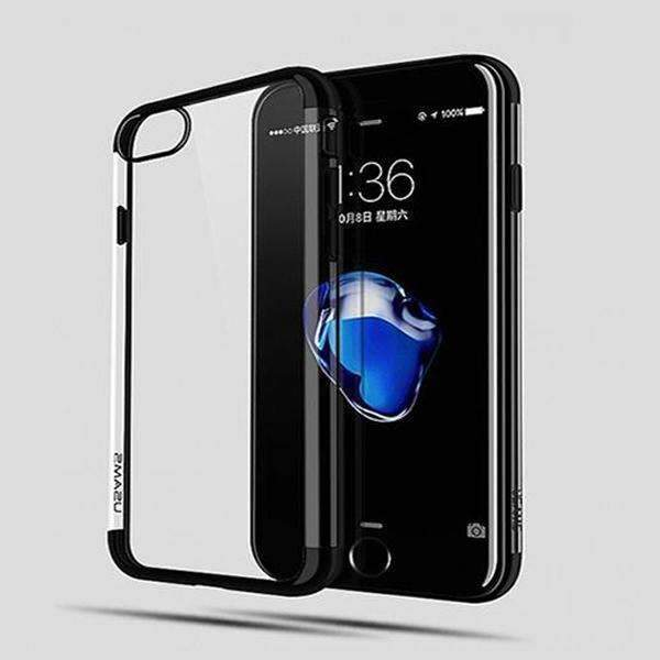 iPhone 7 USAMS Anti Shock Ultra Hybrid Crystal transparent Case+ 4D Tempered Glass